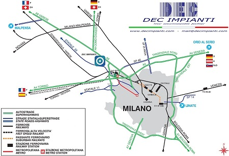DEC IMPIANTI - Rho (Milan, Italy) - click here to download the map